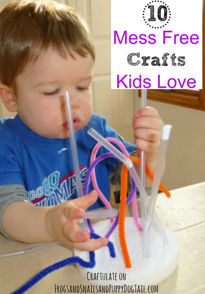 10 mess free crafts kids love
