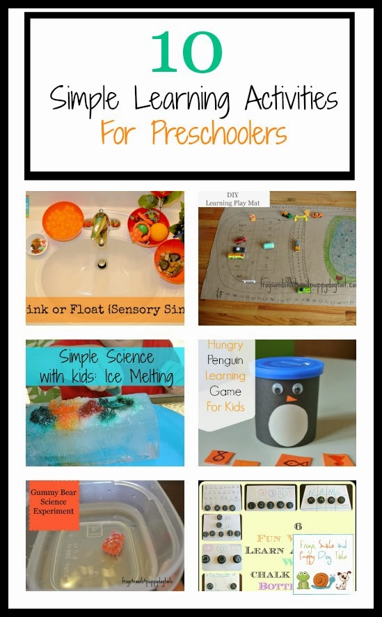 10 Simple Learning Activities For Preschoolers by FSPDT