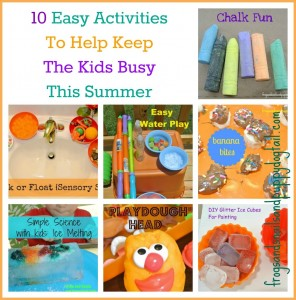 10 Easy Activities To Help Keep The Kids Busy This Summer