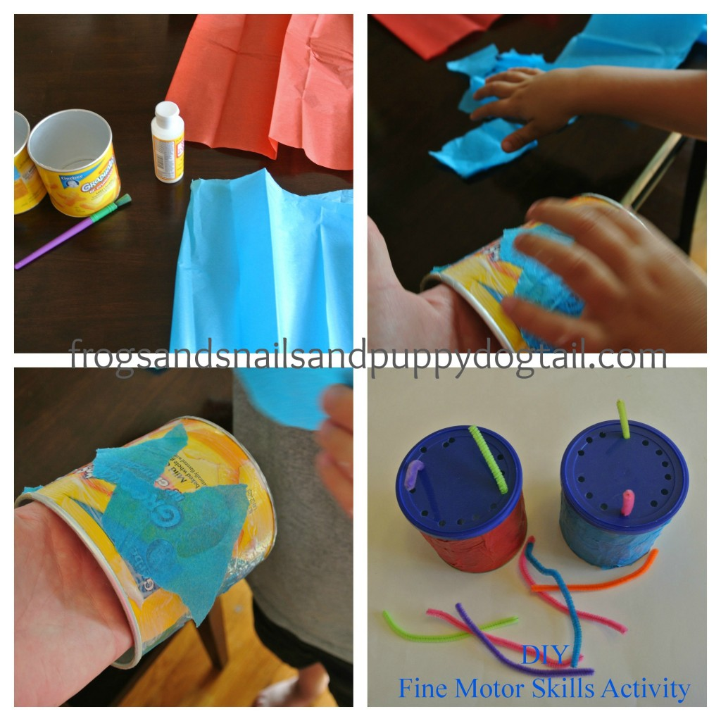 how to make a fine motor skills can activity for kids