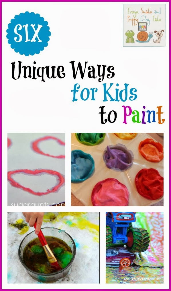 6 Unique Ways for Kids to Paint