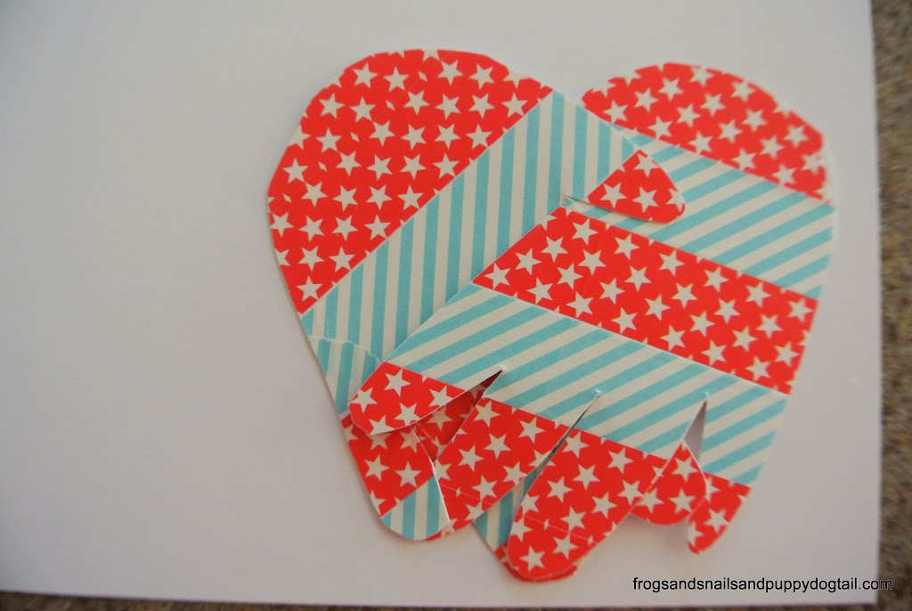 Washi Tape Handprint Heart Art