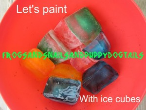 Ice cube painting great activity for toddlers and preschoolers