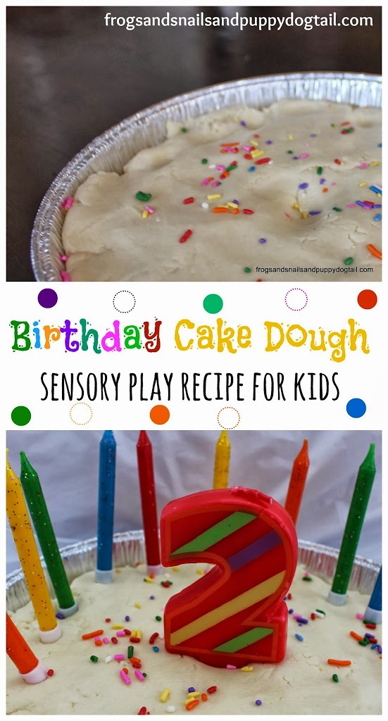 Birthday Cake Dough ~ sensory play recipe for kids