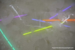 Glow Stick and Balloon Birthday Bath Activity