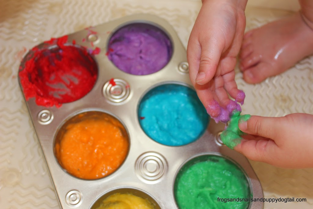 Rainbow Finger Bath Paint