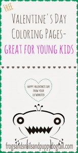 Valentine's Day Coloring Pages- Happy Valentine's Day from Your Lil Monster