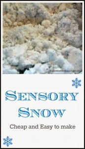 Easy Recipe for Sensory Snow by FSPDT