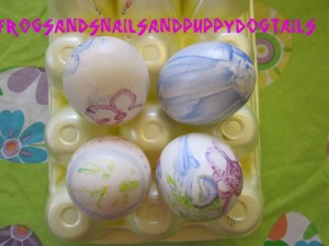 Melted crayon eggs- fun way to decorate