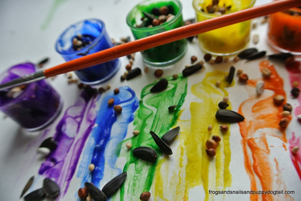Rainbow Spring Sensory Paints