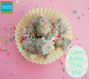 Cake Batter Chex Mix- easter treat