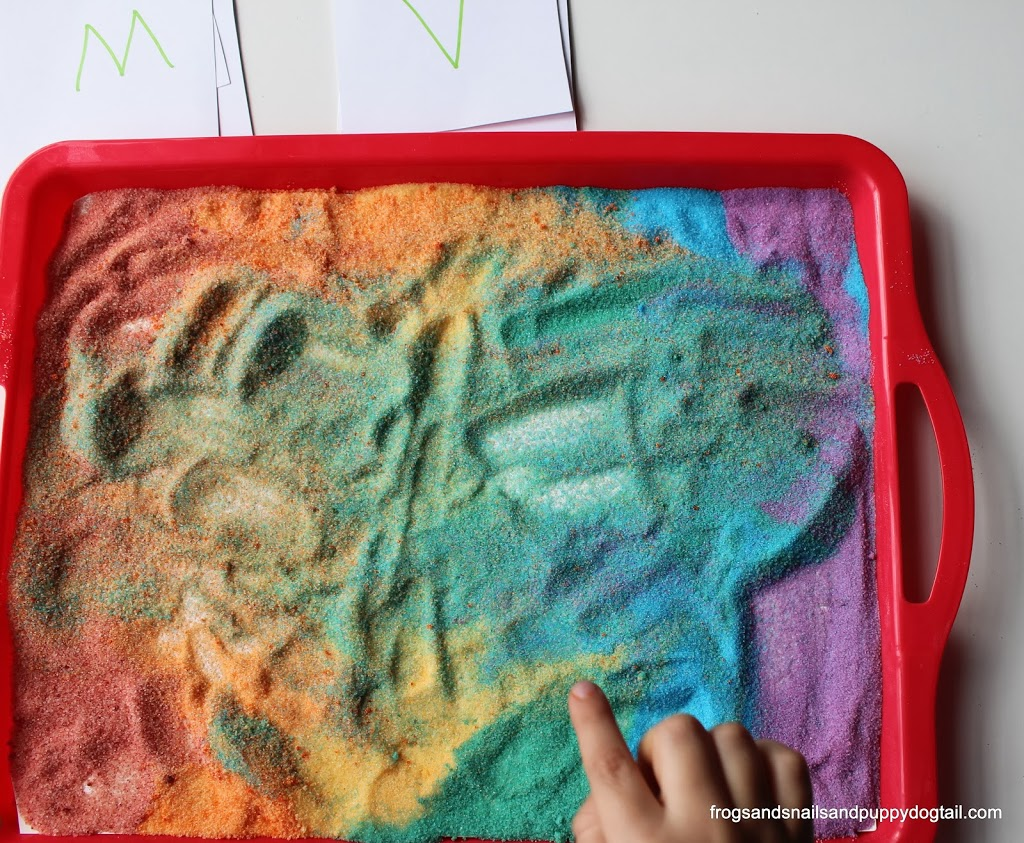 Rainbow Salt Writing Tray