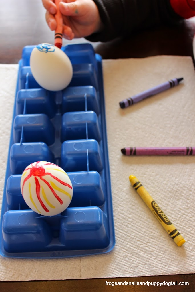Melted crayon eggs- one way to decorate eggs