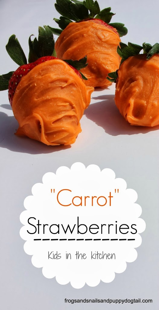 "How To Make ""Carrots"" Strawberries for Easter"