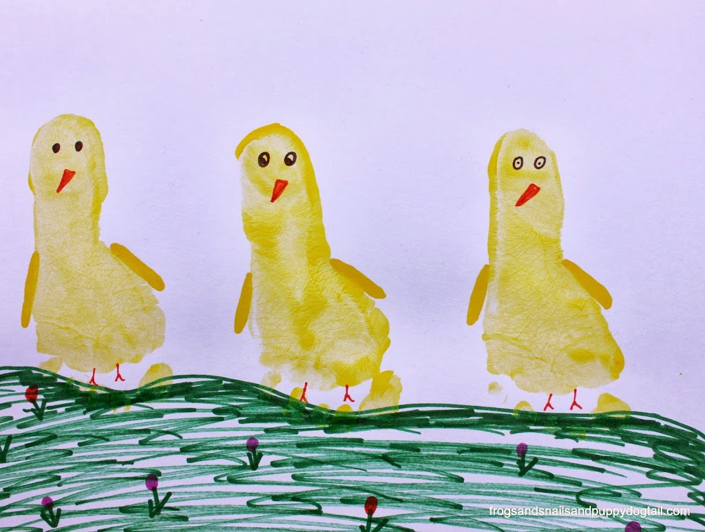 Capture one or more of your kids' sweet footprints with this awesome baby chick project