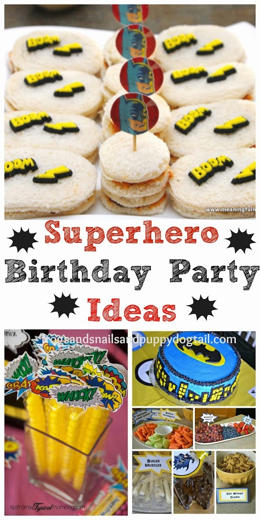 Superhero Activities for Kids and Birthday Party Ideas