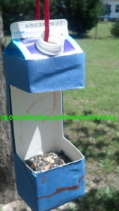 Earth day project for kids- bird feeder