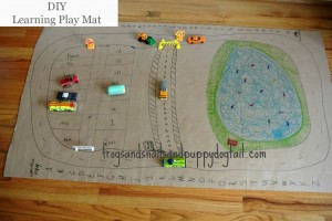 DIY Cardboard Learning Play Mat