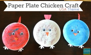 Chicken/Hen Paper Plate Craft