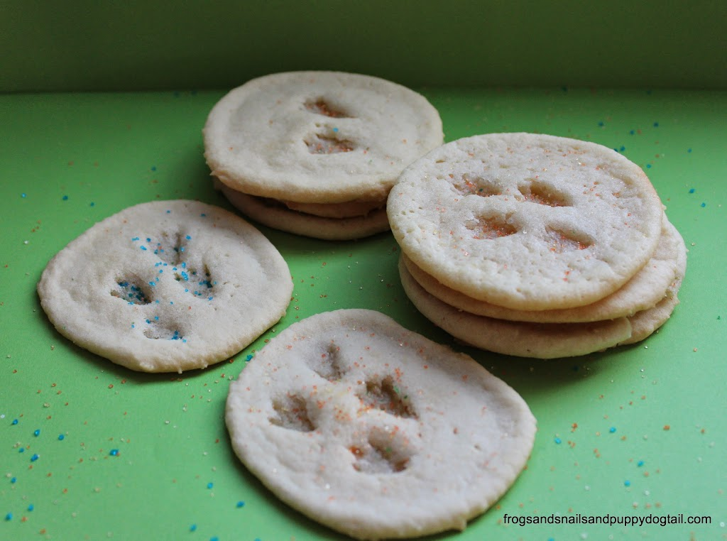 Footprint Dinosaur Cookies