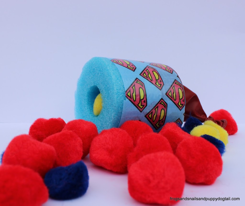 Superhero Pool Noodle Pom Pom Shooter by FSPDT