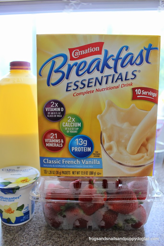 Carnation Breakfast Essentials Strawberry Vanilla Smoothie Recipe And Silly Straws