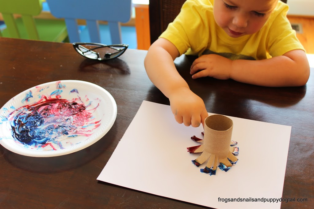 Toilet paper roll firework paintings fspdt for Painting toilet paper rolls
