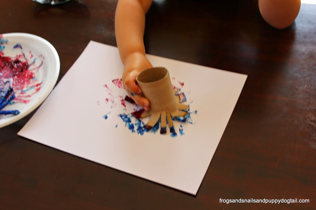 Toilet Paper Roll Firework Paintings