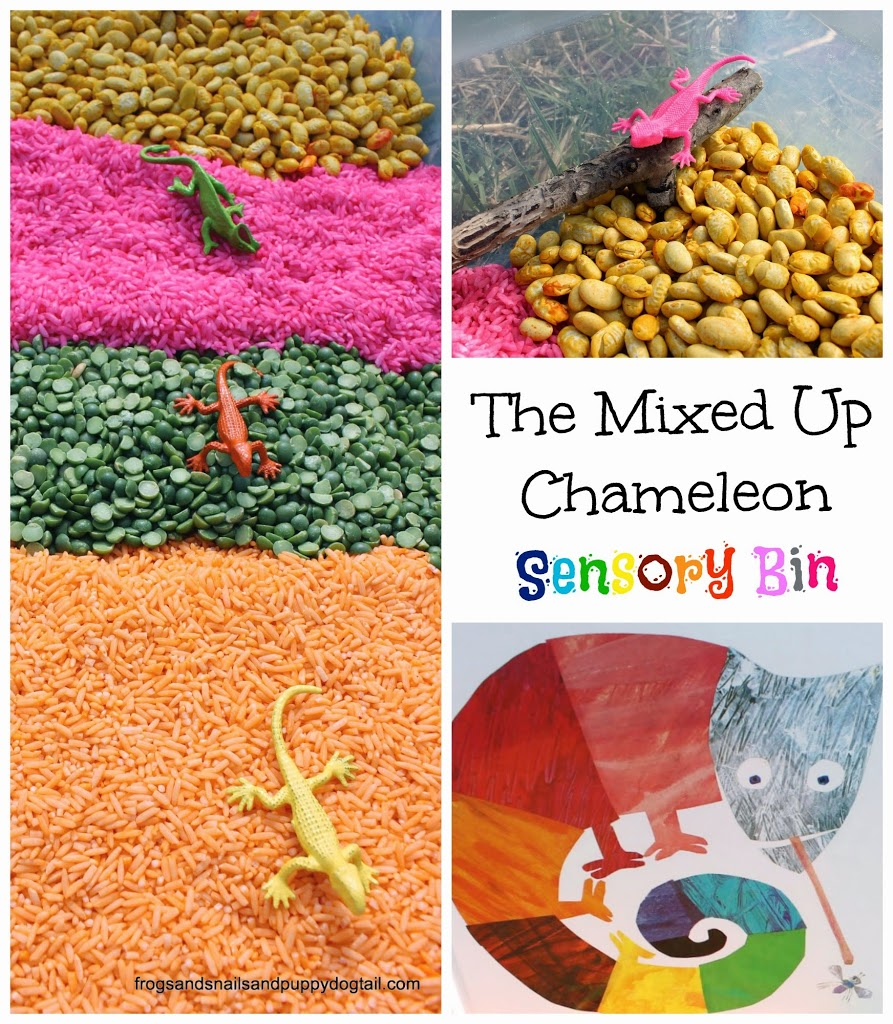 The Mixed Up Chameleon Sensory Bin
