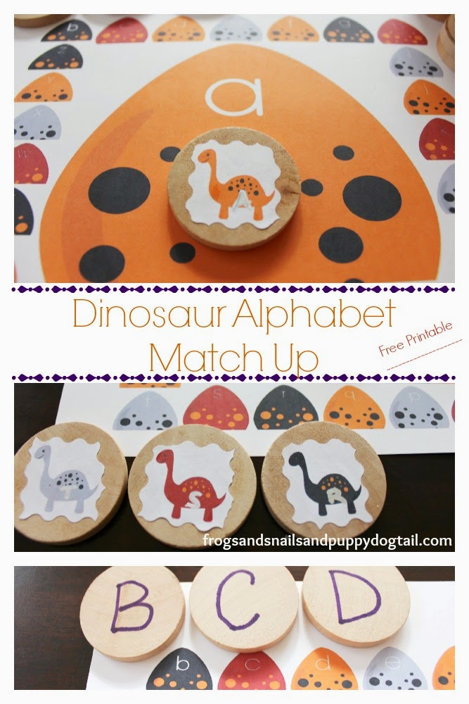 Dinosaur Alphabet Match Up