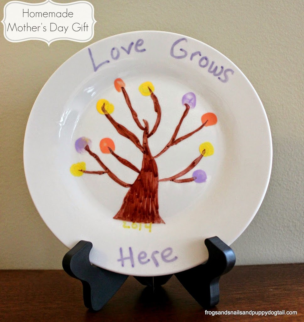Homemade Mother 39 S Day Gift Fingerprint Tree Plate Fspdt