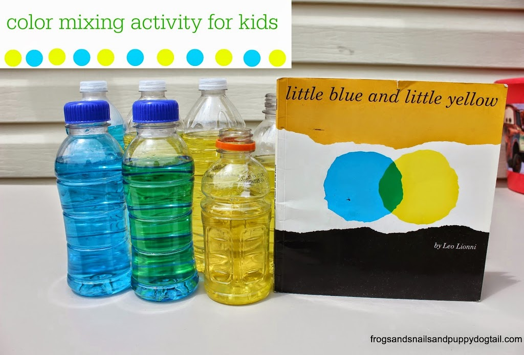 Little Blue and Little Yellow- color mixing activity for kids