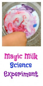 Milk Science Experiment~fun for young kids too