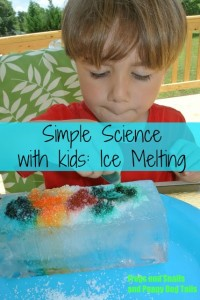 simple science melting ice with kids FSPDT