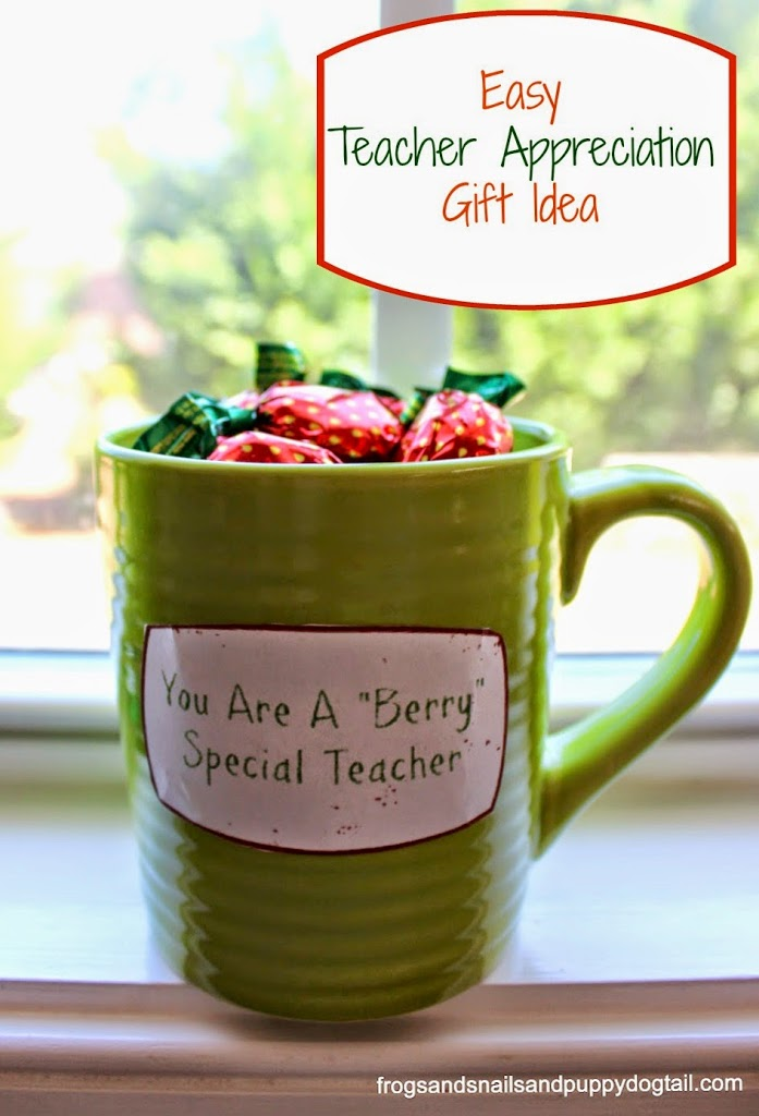 Easy Teacher Appreciation Gift Idea