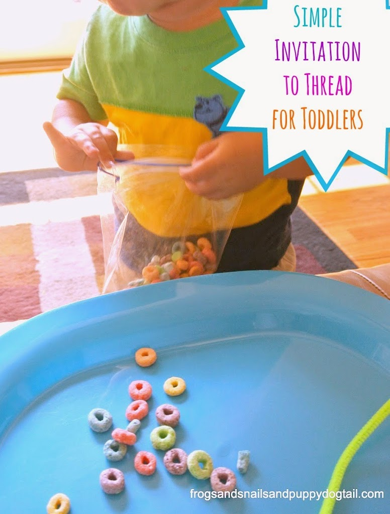 Simple Invitation to Thread for Toddlers