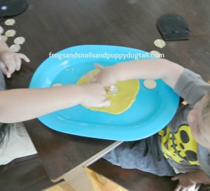 Gold Doubloons Playdough Mark Making