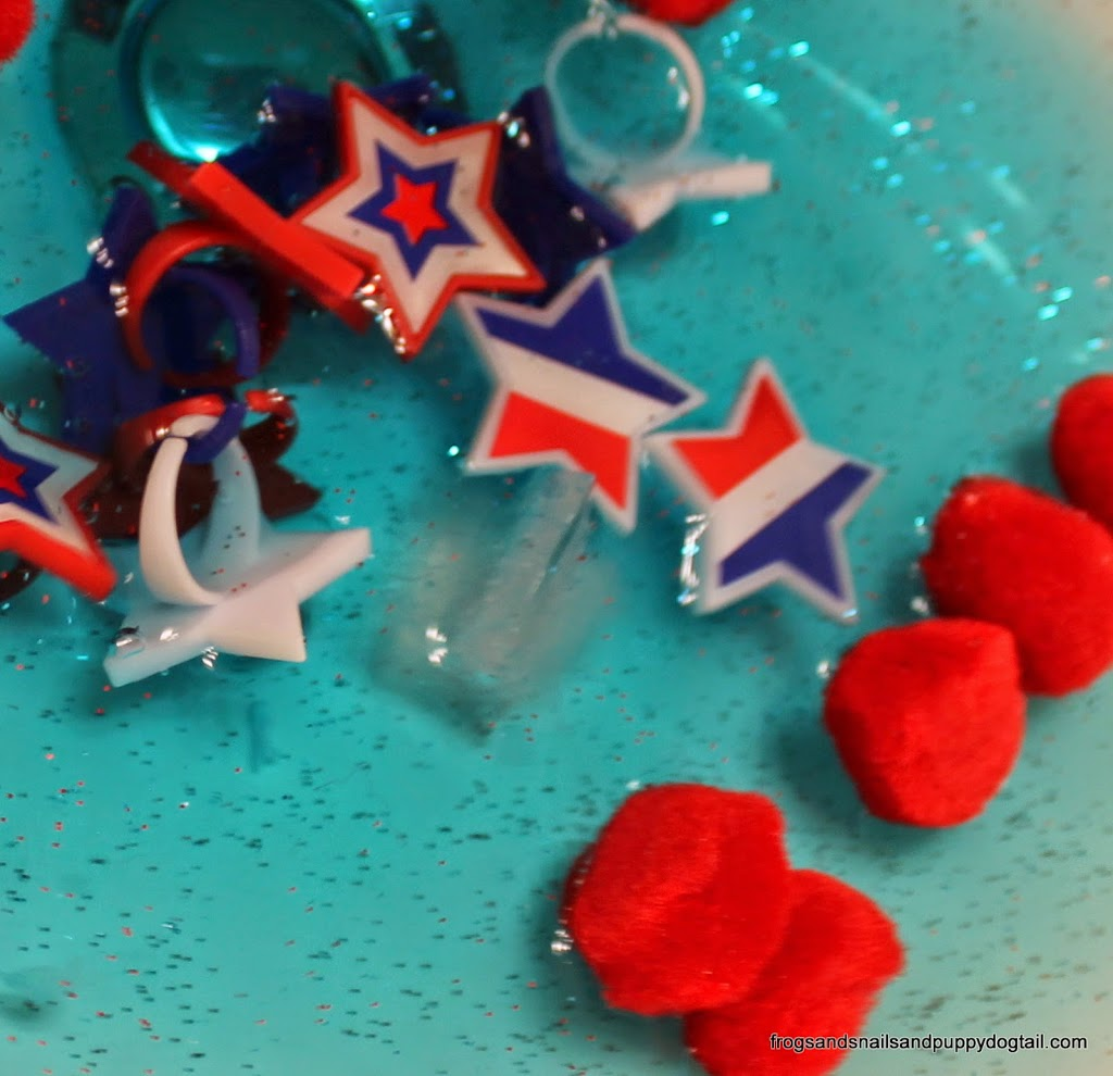 Red, White, and Blue Sensory Sink