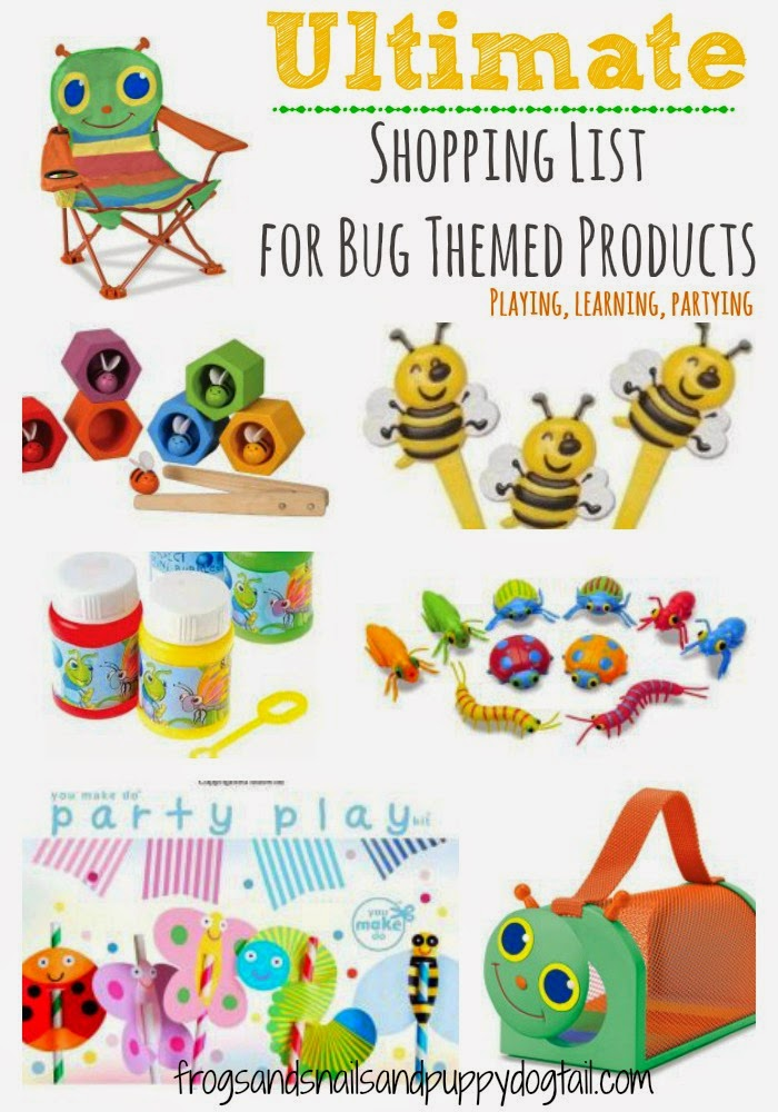 Ultimate Shopping List for Bug Themed Products for Kids: learning, play, partying
