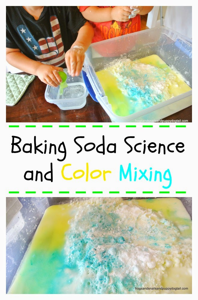 Baking Soda Science and Color Mixing