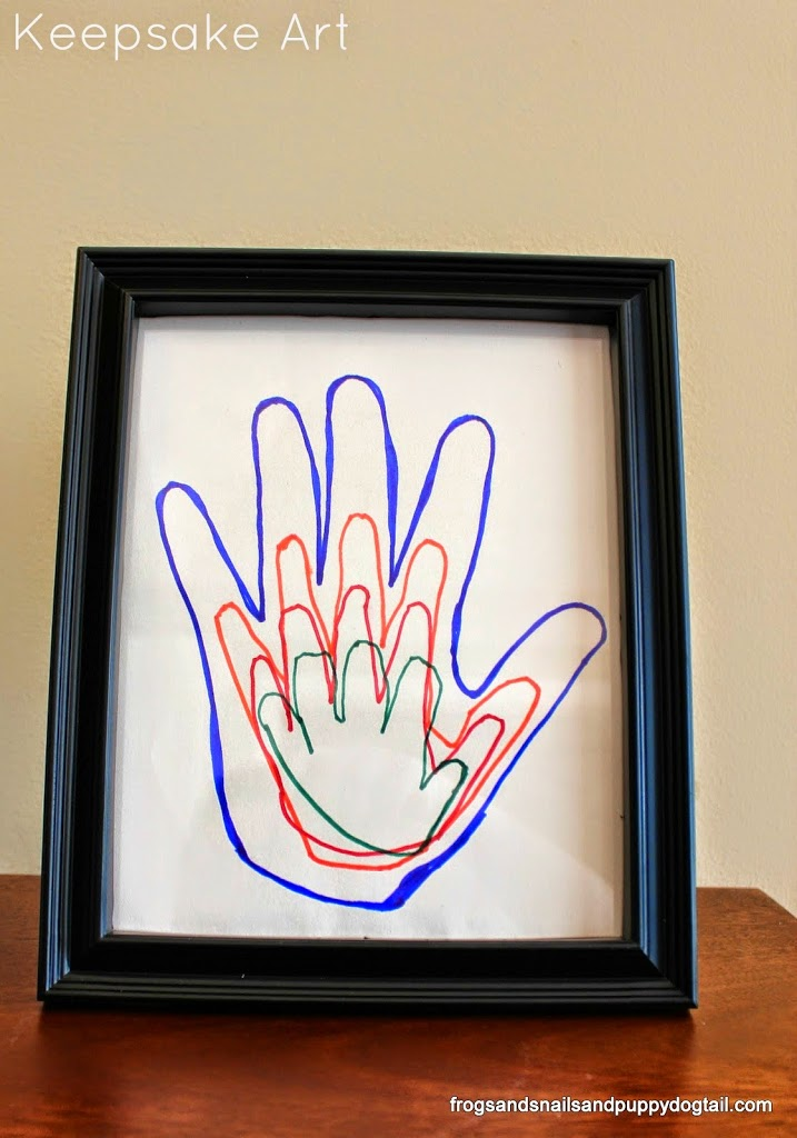 Handprint Trace Father's Day Keepsake Gift