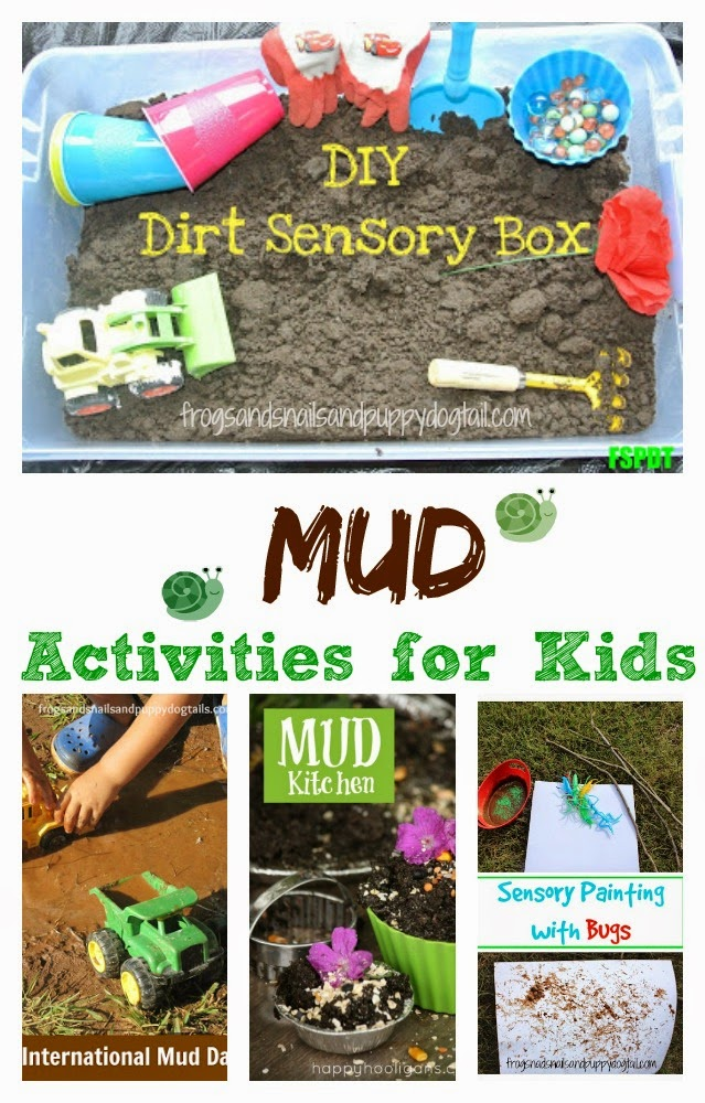 Mud Activities for Kids {A collection of mud play activities and alternatives to outside dirt for mud}