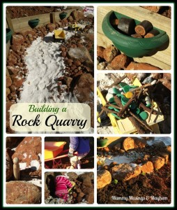 Building a Rock Quarry for Kids - Mummy Musings and Mayhem