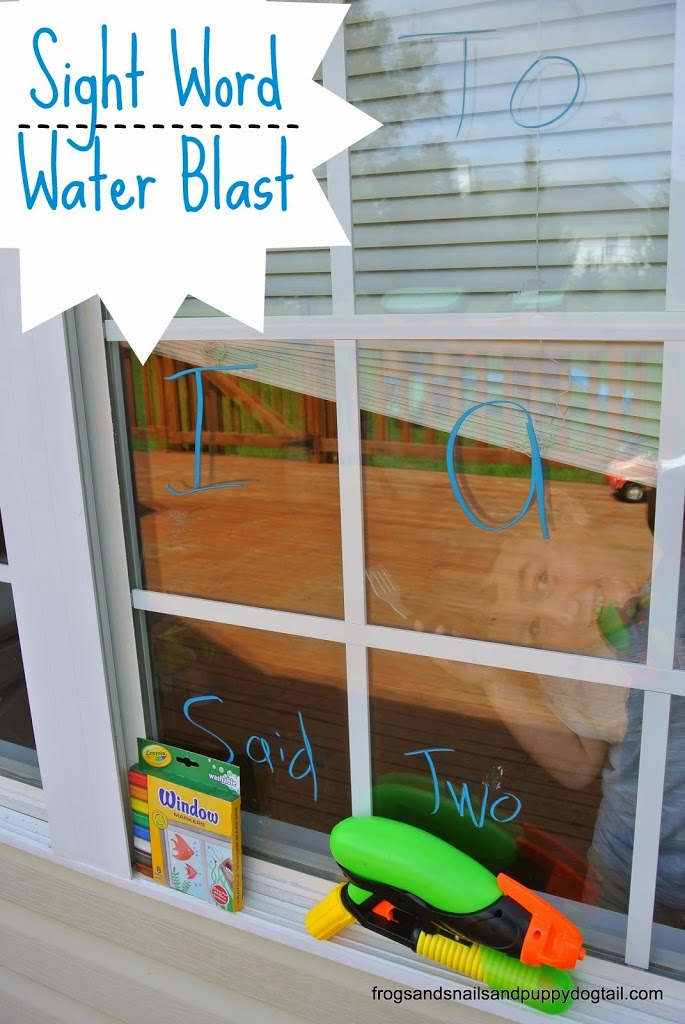 Sight Word Water Blast