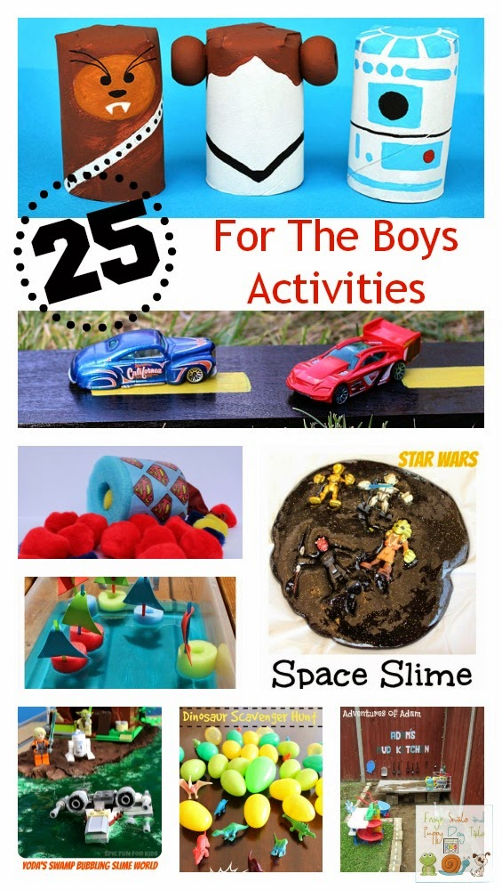 25 For The Boys Activities {kids co-op 7-10}
