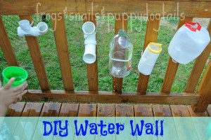 DIY Water Wall kid activities for summer