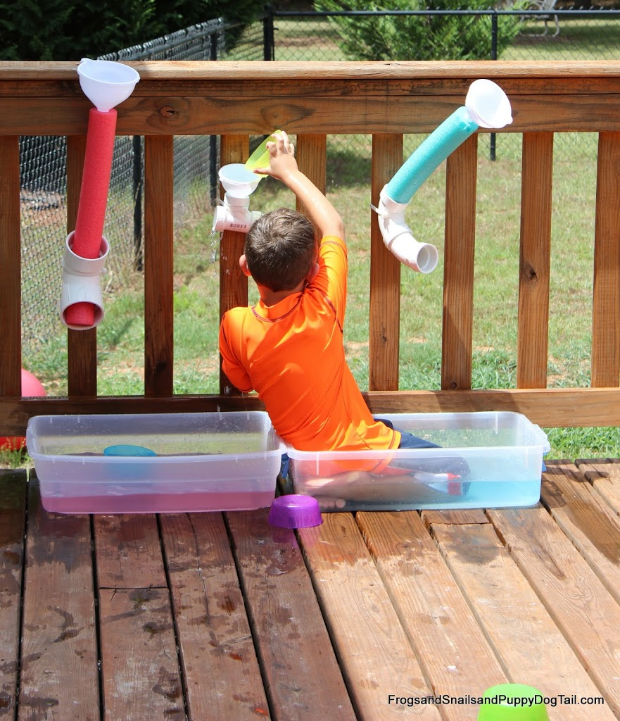 DIY Water Wall- kids activity for summer