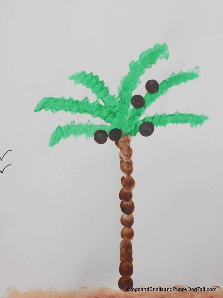 Fingerprint Coconut Tree
