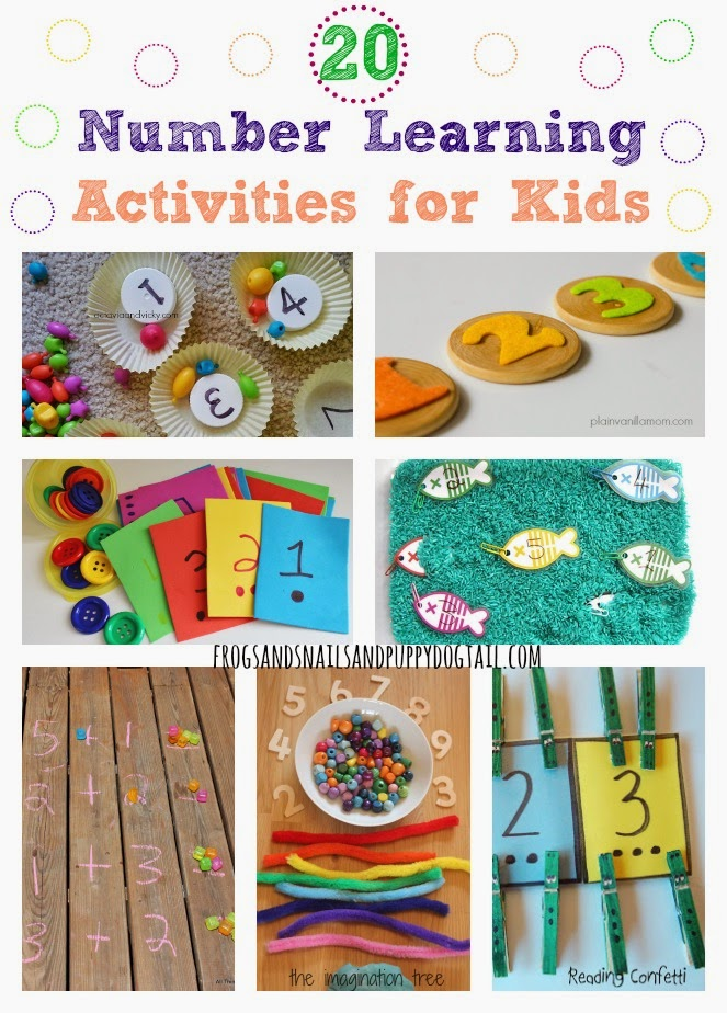 20 number learning activities for kids fspdt On educational crafts for toddlers