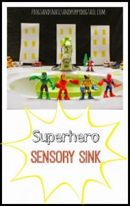 Superhero Sensory Sink